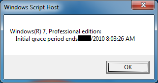 Windows license expiration date